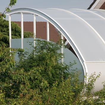 Dachterrasse auf Garage